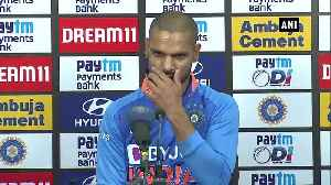Ind vs Aus Shikhar Dhawan talks about devastating loss in 1st ODI [Video]