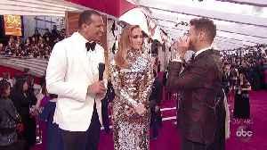 Jennifer Lopez and Alex Rodriguez Oscars 2019 Red Carpet Interview [Video]