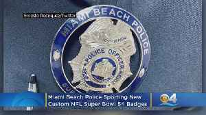 Miami Beach Police Sporting New Custom NFL Super Bowl 54 Badges [Video]