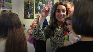 Kate dances with baby on Bradford visit [Video]