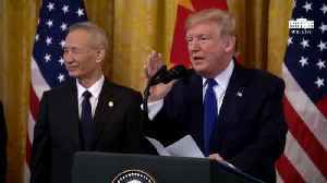 News video: Trump During China Trade Deal Signing: 'Comey Choked Like A Dog'