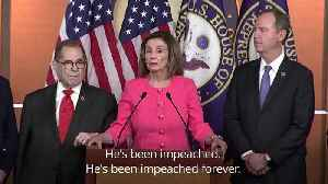 News video: Prosecutors for Donald Trump's Senate impeachment trial announced