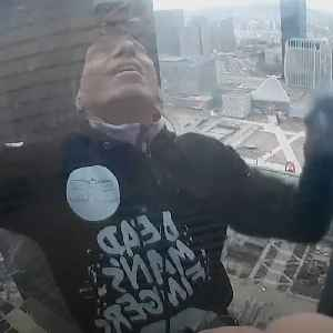 French Spiderman climbs Paris skyscraper in support of pension protests [Video]