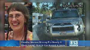 News video: Oroville Woman Missing For Nearly A Week Found Alive In Car Buried In Snow