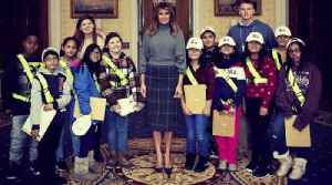 News video: 5th grade students discuss curriculum with First Lady Melania Trump at the White House