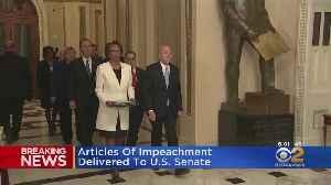 House Democrats Deliver Articles Of Impeachment To The Senate [Video]