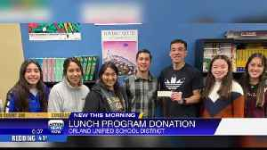 Lunch program donation from two Orland men [Video]