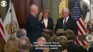Swearing in the first Chief of Space Operations, U.S. Space Force [Video]