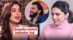News video: Janhvi Kapoor PRAISES Deepika Padukone's Chhapaak With Ranveer Singh
