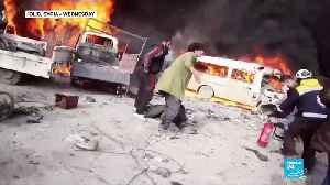 At least 39 civilians dead as a Syrian government bombed the city of Idlib [Video]
