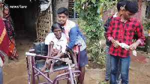 Paralysed 61-year-old in India has unusual ability to float in water without assistance [Video]