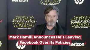 Mark Hamill Stands Against Facebook [Video]