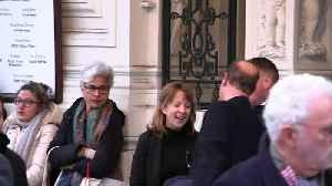 Prince Edward departs Criterion Theatre [Video]