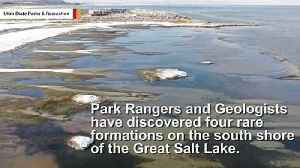 Rare Formation In Utah's Great Salt Lake Thrills Geologists [Video]
