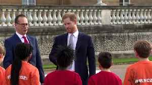 News video: Prince Harry appears in public first time since royal split