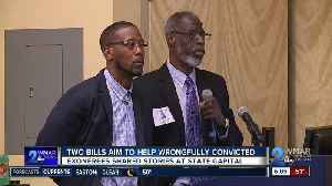 Eleven men convicted, later exonerated voice support for bills to help wrongfully convicted [Video]