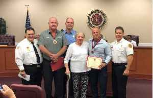 Two men who helped save PSL woman's life honored by fire department [Video]