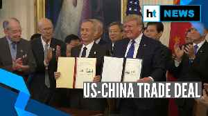 Watch: US, China sign Phase 1 of 'momentous' trade deal [Video]