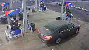 News video: Retired DPD officer's car stolen from gas station on Detroit's east side