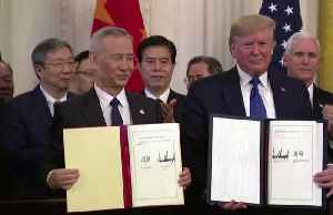 U.S., China tiptoe around holes in trade deal [Video]