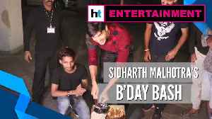 News video: Watch: Sidharth Malhotra celebrates 35th birthday, cuts cake with paparazzi