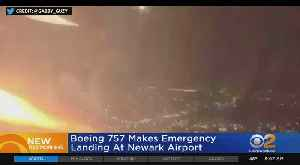 News video: United Flight Makes Emergency Landing At Newark Airport