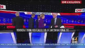 News video: Elizabeth Warren Accused Bernie Sanders Of Calling Her A 'Liar On National TV'