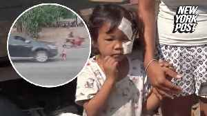News video: Girl miraculously survives being thrown 20 feet by pickup truck