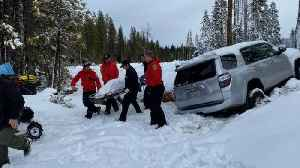 News video: Woman With Dementia Found Alive In Snow-Covered Car