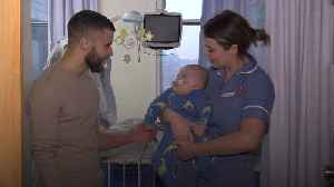Boxer inspires young patients at hospital where he had open heart surgery