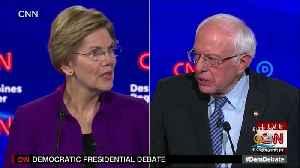 Brief Post-Debate Exchange Between Sanders, Warren Released [Video]