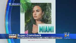 Trending Now: Demi Lovato To Sing National Anthem At Super Bowl [Video]