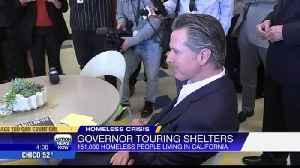 Gov. Newsom promotes $1B housing plan for homeless on week-long tour [Video]