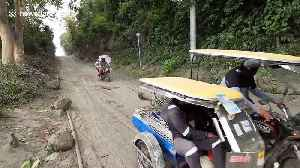 Large cracks open up on roads in towns near Philippines' Taal volcano [Video]