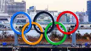 Giant Olympic rings arrive in Tokyo as city prepares for sports event [Video]