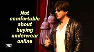 News video: SRK: Not comfortable about buying underwear online