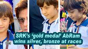 SRK's 'gold medal' AbRam wins silver, bronze at races [Video]