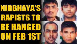 Nirbhaya case: All four convicts to be hanged on Feb 1st 6am | Oneindia News [Video]
