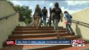 Bill filed to make college textbooks tax exempt [Video]