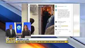 Two travelers removed from flight for safety concerns in Romulus [Video]
