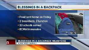 Blessings in a Backpack reaches milestone [Video]