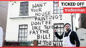 Disgruntled painter takes revenge by daubing a message on an old pub