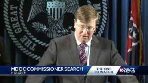 Governor Announces MDOC Search Committee and Names Interim Corrections Commissioner [Video]