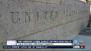 News video: Three arrested ahead of pro-gun rally