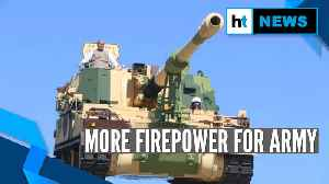 Rajnath Singh flags off & rides on new made-in-India K9 Vajra-T howitzer [Video]