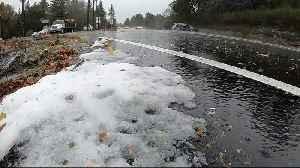Rain, Hail and Snow Blast Across South Bay on Thursday [Video]
