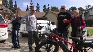 Man Battling Parkinson's Receives Donated E-Bike After His Own Was Stolen [Video]