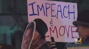 Demonstrators Demand Fair Impeachment Trial For Pres. Trump [Video]