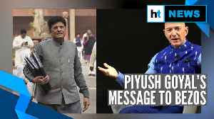 News video: Watch: Piyush Goyal clarifies 'Amazon not doing India a favour' remark