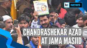 Watch: Chandrashekhar Azad reads Constitution's preamble at Jama Masjid [Video]